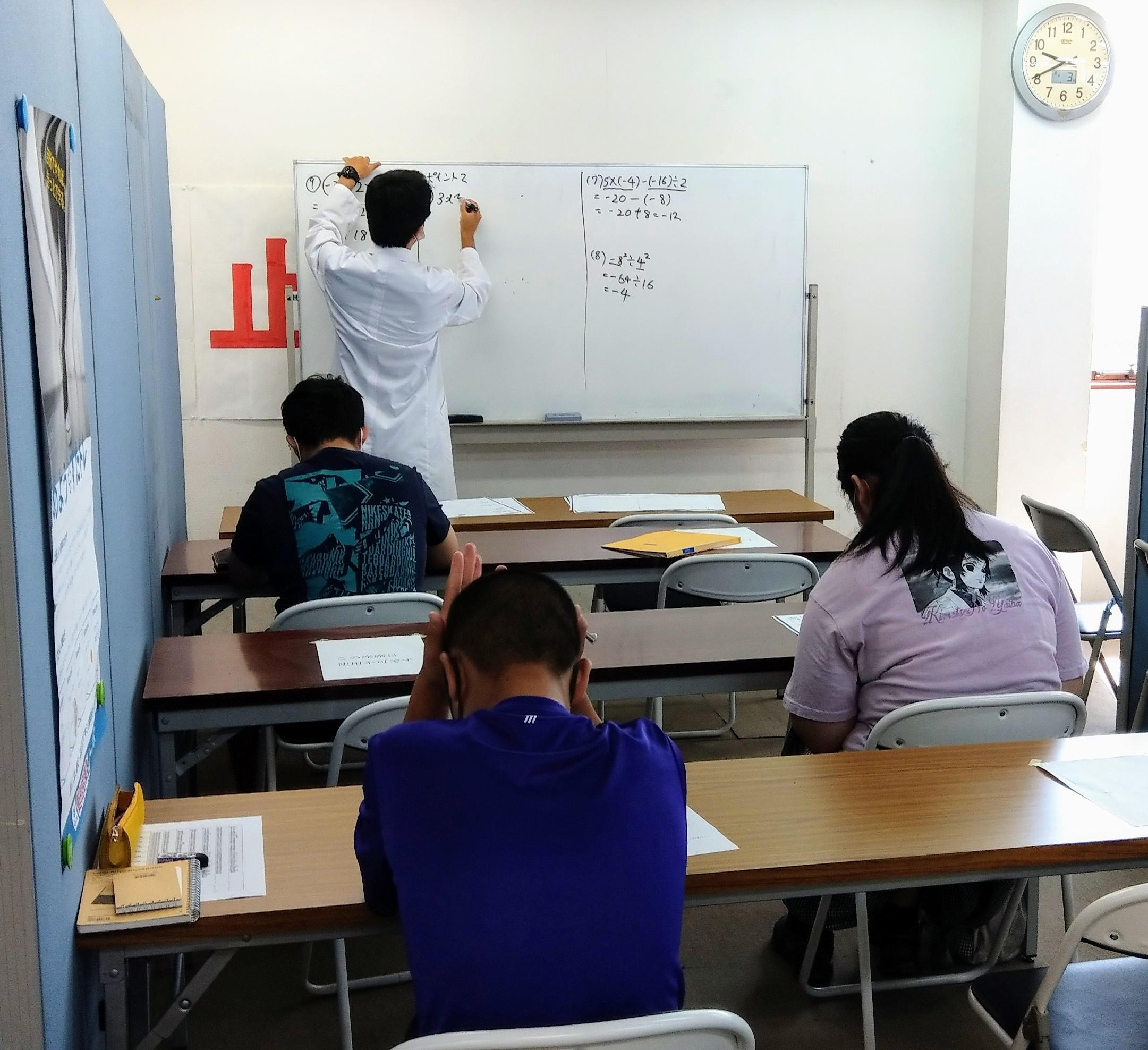 中3集団講習はじまりました。